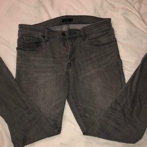 Men's Grey Skinny Stretch fabric jeans. 32W 32L